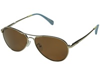 Toms Kilgore Polarized Gold Fashion Sunglasses