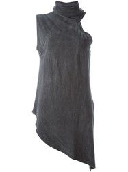 Lost And Found Rooms Sleeveless Roll Neck Top Grey