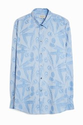 Paul And Joe Feather Motif Shirt Blue