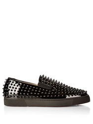 Christian Louboutin Galactokai Spike Embellished Slip On Trainers