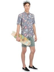 Vans Floral Printed Cotton Chambray Shirt