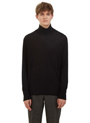 Acne Studios Joakim Merino Wool Roll Neck Sweater Black
