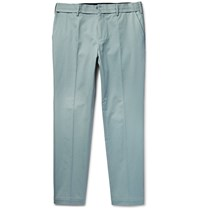 Dolce And Gabbana Slim Fit Stretch Cotton Twill Trousers Sky Blue