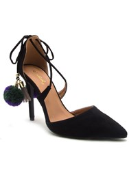 Qupid Milia Tie Back Court Shoe Black