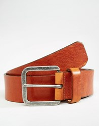 Royal Republiq Connect Leather Belt In Brown Brown