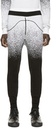 Marcelo Burlon Black And White Wool San Carlos Pants