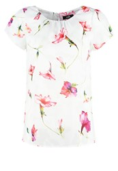 Wallis Garden Shell Print Tshirt White Multicoloured