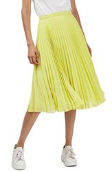 Topshop Women's Chiffon Pleated Midi Skirt