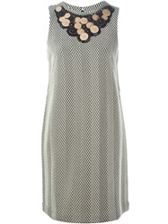 Antonio Marras Embellished Collar Dress Nude And Neutrals
