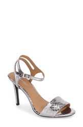 Calvin Klein Women's 'Nadina' Ankle Strap Sandal Steel Metallic Leather