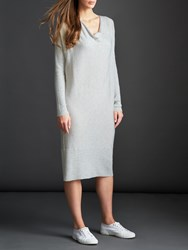 Modern Rarity Cowl Neck Long Dress Grey