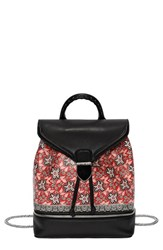 Alexander Mcqueen 'Small Legend' Floral Bandana Print Leather Backpack