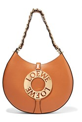 Loewe Joyce Leather Shoulder Bag Tan