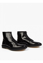 Adieu Black Leather Type 22' Lace Up Boots