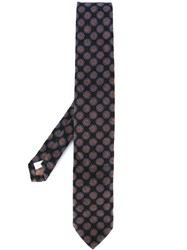 Lardini Spotted Print Neck Tie Black