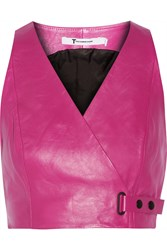 Alexander Wang Cropped Leather Top Pink