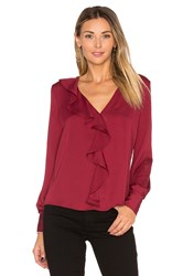 L'academie The Ruffle Blouse Burgundy