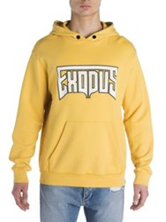 Palm Angels Exodus Graphic Hoodie Yellow