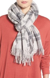 Eileen Fisher Women's Soft Wool And Cashmere Plaid Scarf