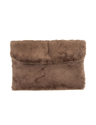 Pixie Market Teddy Bear Faux Fur Clutch