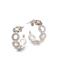 Opera Crystal And Diamond Small Hoop Earrings Coomi