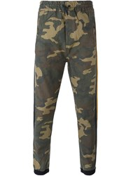 Faith Connexion Tapered Camouflage Trousers Green