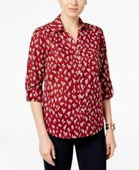 Styleandco. Style Co. Floral Print Button Down Shirt Only At Macy's Tulip Block