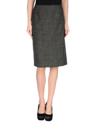 Calvin Klein Collection Knee Length Skirts Steel Grey
