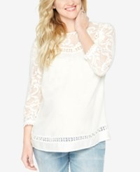 Wendy Bellissimo Maternity Lace Blouse White