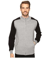 Agave Vail Long Sleeve Cotton Fine Gauge Gray Black Men's Long Sleeve Pullover