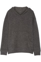 The Elder Statesman Stretch Cashmere Blend Hooded Sweater