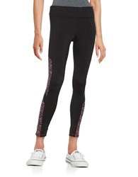 Calvin Klein Colorblocked Active Leggings Psycho Red