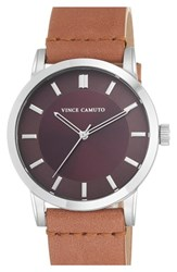Men's Vince Camuto Leather Strap Watch 42Mm
