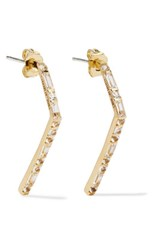 Elizabeth And James Stella Gold Tone Crystal Earrings