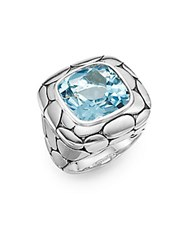 John Hardy Kali Blue Topaz And Sterling Silver Ring