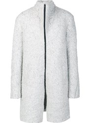 Lost And Found Ria Dunn Funnel Neck Coat White