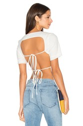 Lavish Alice Open Tie Back T Shirt White
