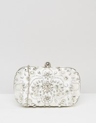 Chi Chi London Embellished Box Clutch In White White