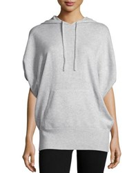 Vince Cashmere Jumbo Hooded Sweater Black