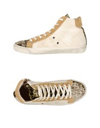 Leather Crown High Tops And Trainers Ivory