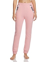 Moschino Cotton Fleece Jogger Pants Pink