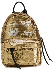 Chiara Ferragni Mini 'Flirting' Backpack Metallic