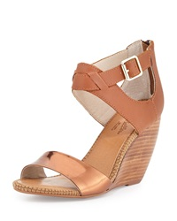 Seychelles All The Way Leather Wedge Sandal Copper