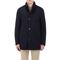 Enrico Mandelli Coats Fur Lined Cashmere Fleece Parka Navy