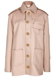 Givenchy Light Pink Leather And Wool Jacket