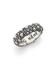 King Baby Studio Textured Sterling Silver Band Ring