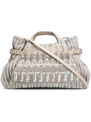 Jamin Puech Embroidered 'Cassandra' Bag Grey