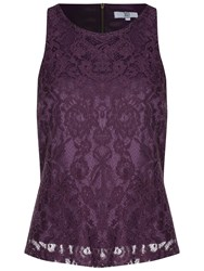 True Decadence Lace Shell Top Purple