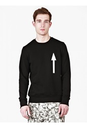 Christopher Raeburn Black Cotton Arrow Print Sweatshirt