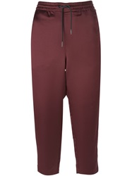 T By Alexander Wang Cropped Track Pants Red